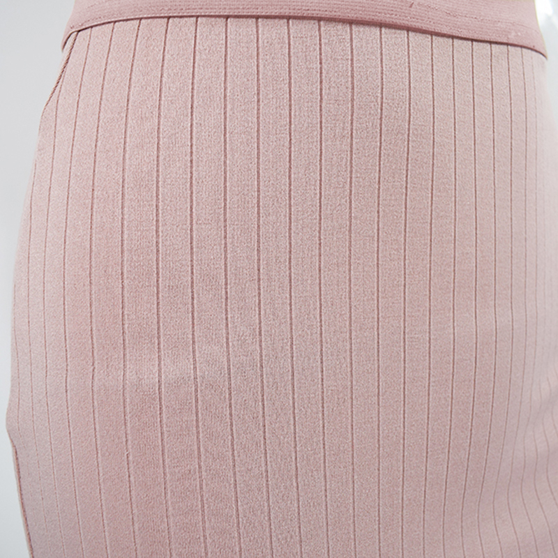 NewAsia Pink Ribbed Sexy Two Piece Set Matching Sets 2 Piece Set Women Crop Top And Skirt Set Winter Two Piece Outfits Clothes in Women 39 s Sets from Women 39 s Clothing