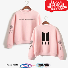 LUCKFRIDAYF BTS Love Yourself k pop Women Hoodies S