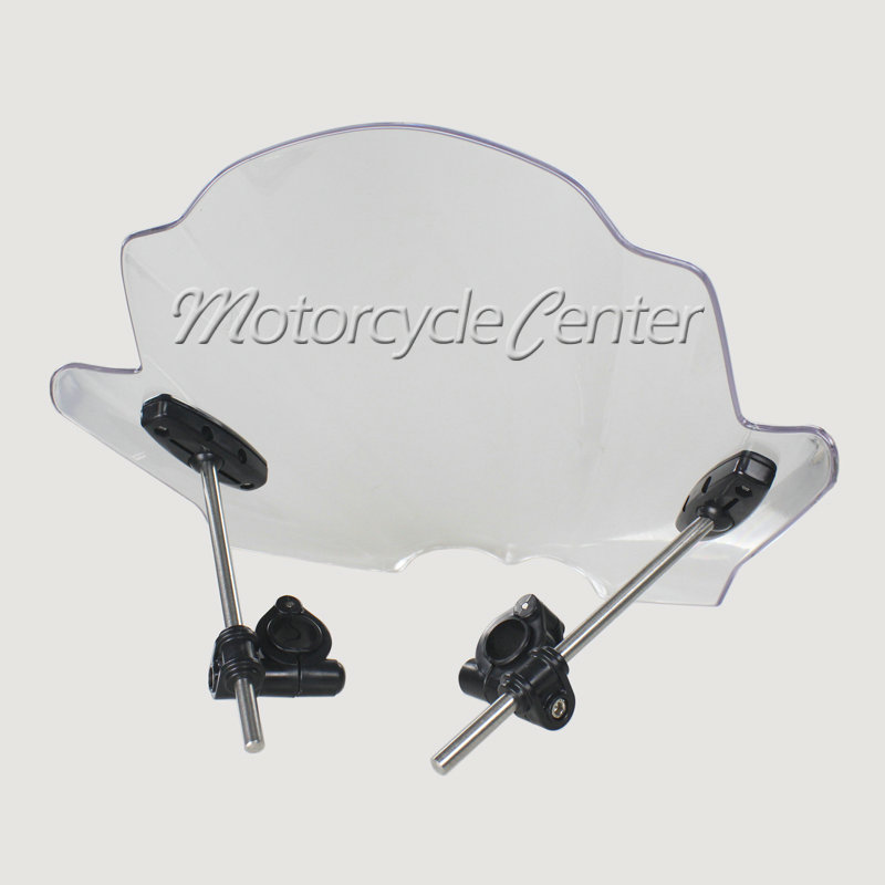 Transparent Motorcycle Wind Deflectors Windshield Windscreen For 2014-2015 Yamaha FZ-09 FZ-07 FZ07 FZ09 14 15 motorcycle street bikes wind deflectors windshield windscreen for 2006 2014 yamaha fz1 fz1n fz6 s2 fz8 fz 6 8 dark smoke 08 12