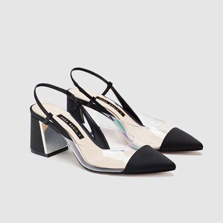 Simple Pvc Transparent Pointues Femmes Nouvelle Talons Été De Hauts Mode Sauvages Casual 2019 Chaussures tXCwBqccn
