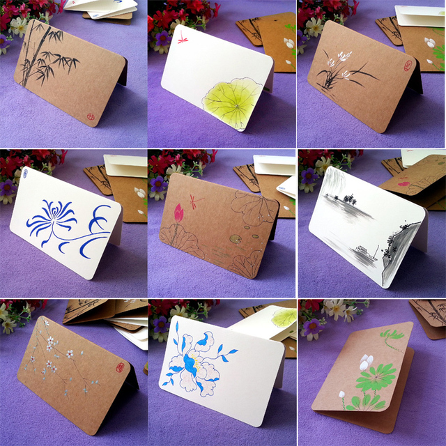 Aventure original handmade painting chinese wind kraft paper folded aventure original handmade painting chinese wind kraft paper folded greeting cards hand painted postcards plans m4hsunfo