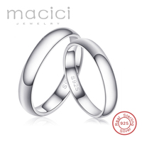Promise Rings Personality Engravable Letters Authentic 925 Sterling Silver Wedding Engagement Rings For Couples WJZ023