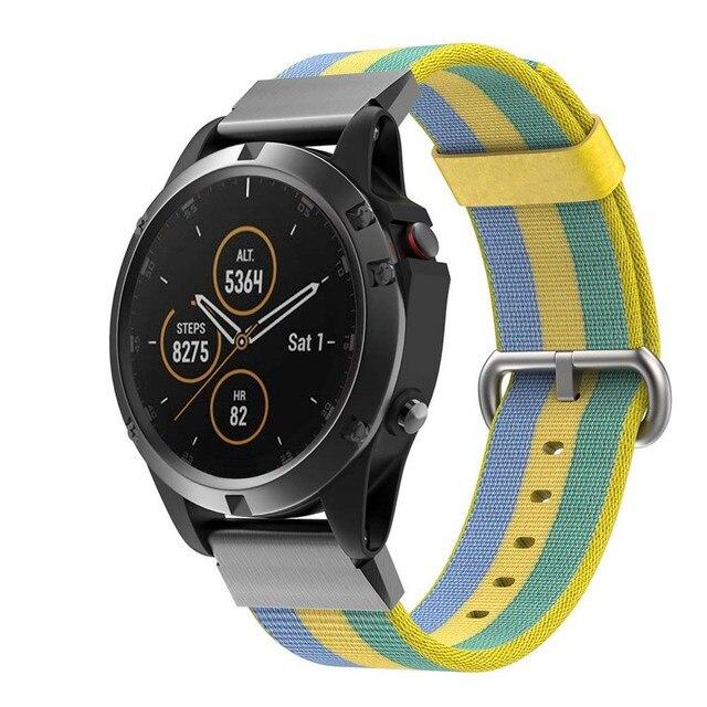 0988de71371 Substituição Faixa de relógio de Nylon Strap Pulseira para Garmin Fenix 5X  Plus XR649 Smartwatch