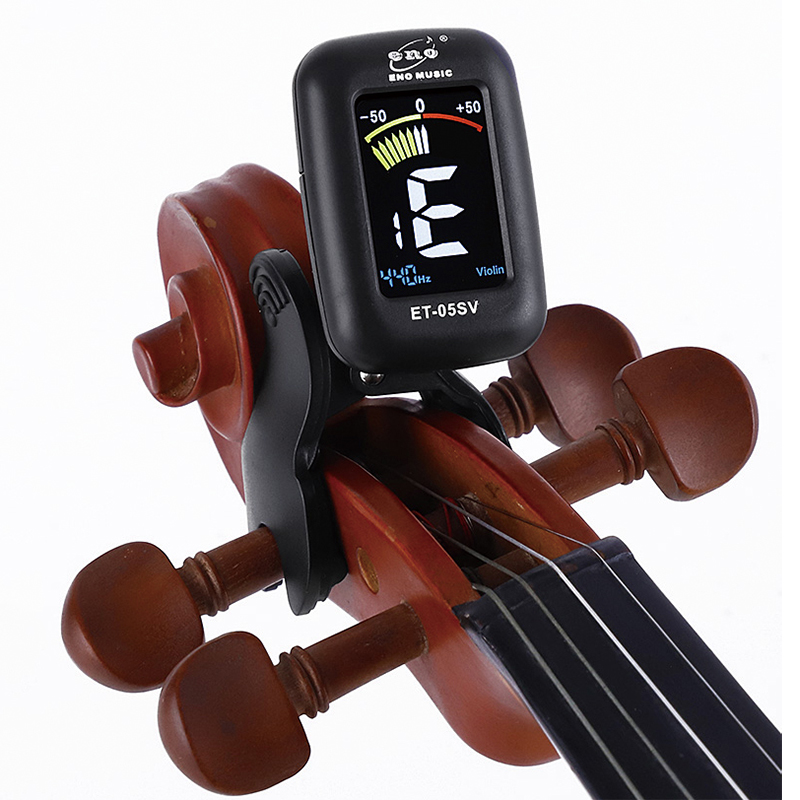 US $9 46 20% OFF|Eno Violin Tuner Mini Electronic Tuner For Violin Viola  Cello Double Bass Clip on Tuner Portable Digital Violin Parts Accessory-in