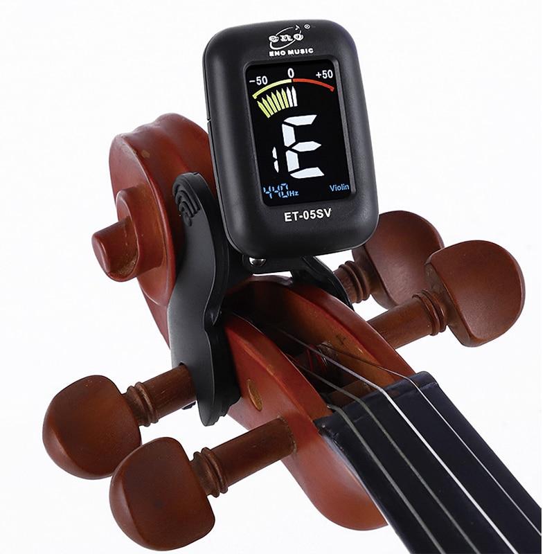 Eno Violin Tuner Mini Electronic Tuner For Violin Viola Cello Double Bass Clip-on Tuner Portable Digital Violin Parts Accessory