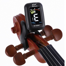 лучшая цена Eno Violin Tuner Mini Electronic Tuner For Violin Viola Cello Double Bass Clip-on Tuner Portable Digital Violin Parts Accessory