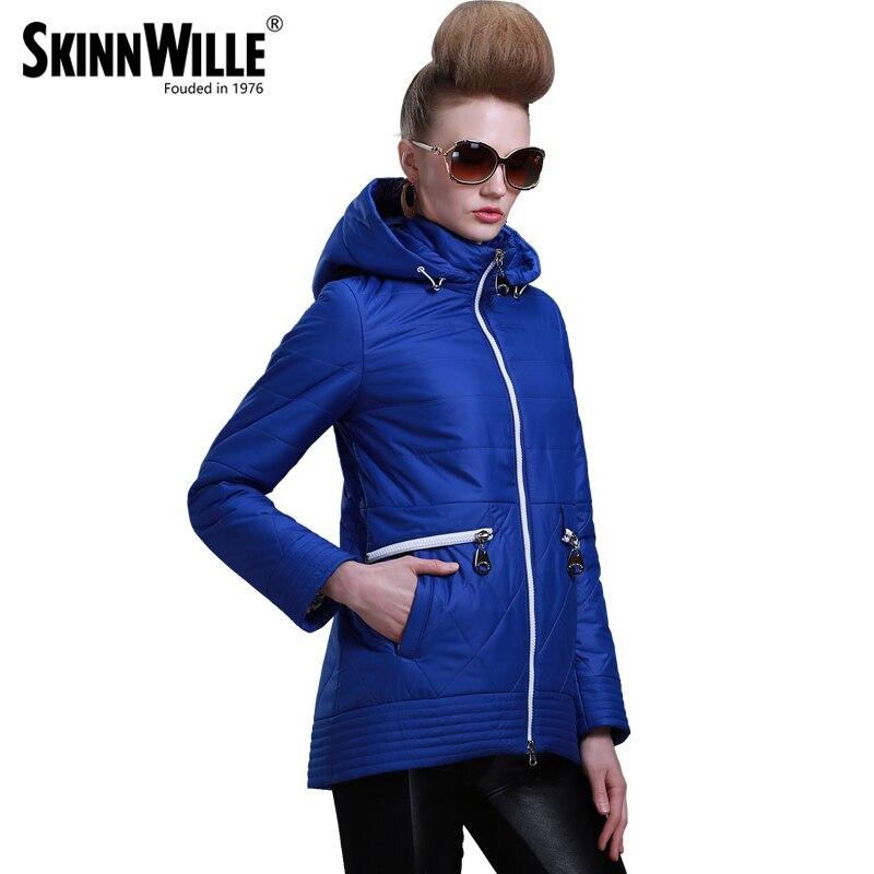 SKINNWILLE2016 Yeni Bahar Sıcak kadınlar Pamuk coat yastıklı Ceket kadın Giyim Üç Çeyrek Kol Ceket Ceket Rüzgarlık