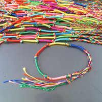 BB 346 Tibetan Handmade Lucky Knots Amulet Bracelet Colorfol Silk Cotton Thread 50pcs Lot Best Offer