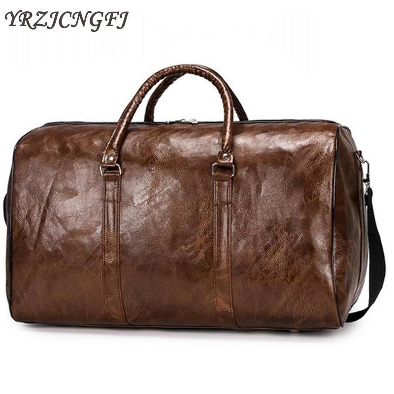 Men Women Travel Bag Large Capacity Big Sports Duffel Bag Vintage Unisex Shoulder Handbags Luggage Weekend Bags Travel Organizer