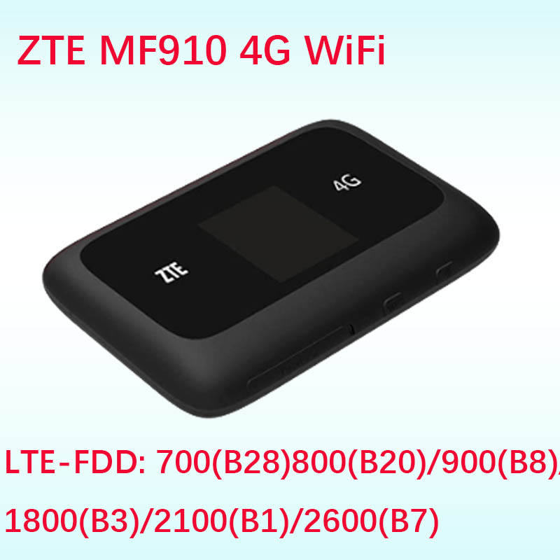 Unlocked ZTE MF910 LTE 4G WIFI Router 4G wifi dongle Mobile Hotspot 150Mbps Network Router pk Huawei E5573 E5577 E5372 unlocked zte ufi mf970 lte pocket 300mbps 4g dongle mobile hotspot 4g cat6 mobile wifi router pk mf910 mf95 mf971 mf910