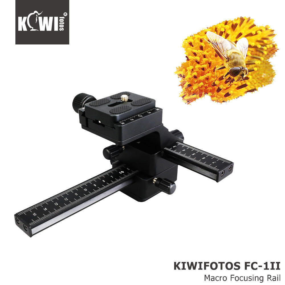 4 Way Macro Focusing Focus Rail Slider /Close-up Shooting for Canon for Nikon SLR Camera Camcorder with Standard 1/4 Screw Hole