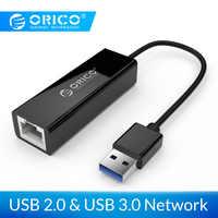 ORICO UTJ USB 3.0 Gigabit Ethernet Adapter USB to RJ45 lan Network Card for Windows 10 8 8.1 7 XP Mac OS laptop PC-Black