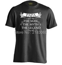 PAPA the man the myth the legend Mens & Womens Summer Cotton T shirt Cool Letters T shirt