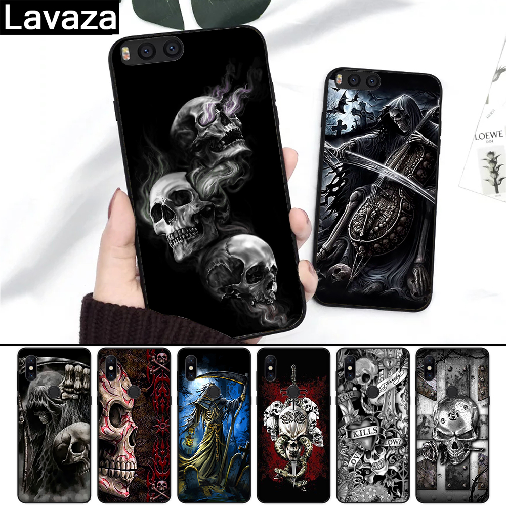 Lavaza Grim Reaper Skull Skeleton Coque Shell Print Silicone Case for Redmi 4A 4X 5A S2 5 Plus 6 6A Note 4 Pro 7 8 k20 Prime Go(China)