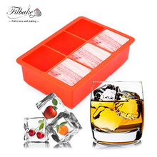 FILBAKE Cheap Cool Large Silicone Ice Cube 6 Cavity Mold 3D Ice Tray Ice Cream Tools Drink Pudding Jelly Soap Helados Makers Fun