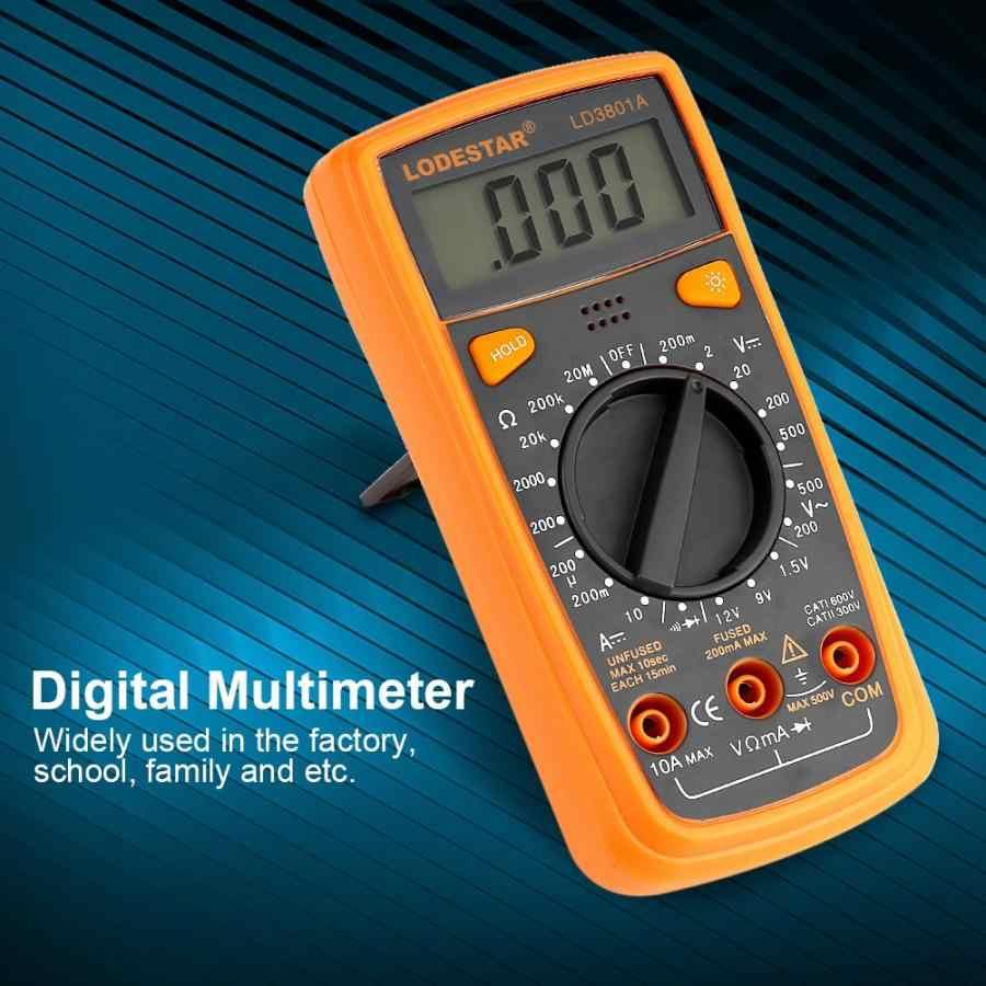 Sondy LD3801A multimetr cyfrowy napięcia prądu odporność pojemności Tester amperomierz Auto zakres 11