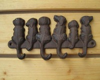 19X9.5CM Cast iron embossed decorative dog hook