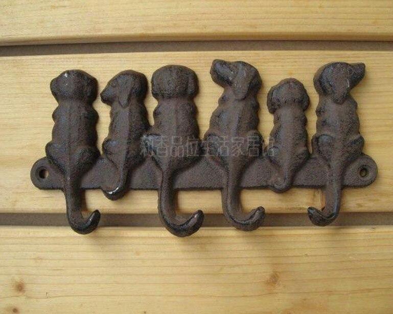 Crochet de chien décoratif en relief en fonte 19X9.5 CM