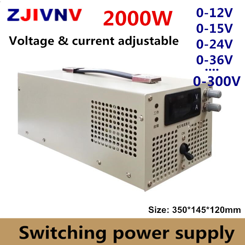 2000w Switching Power Supply 0 12V 15V 24v 27V 36V 48V 60V 70V 80V 90V 110V
