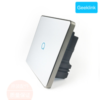 Geeklink FB2 Smart Home Wall Touch Feedback Switch UK version 1/2/3gang Intelligent Wireless remote Switch by IOS Android