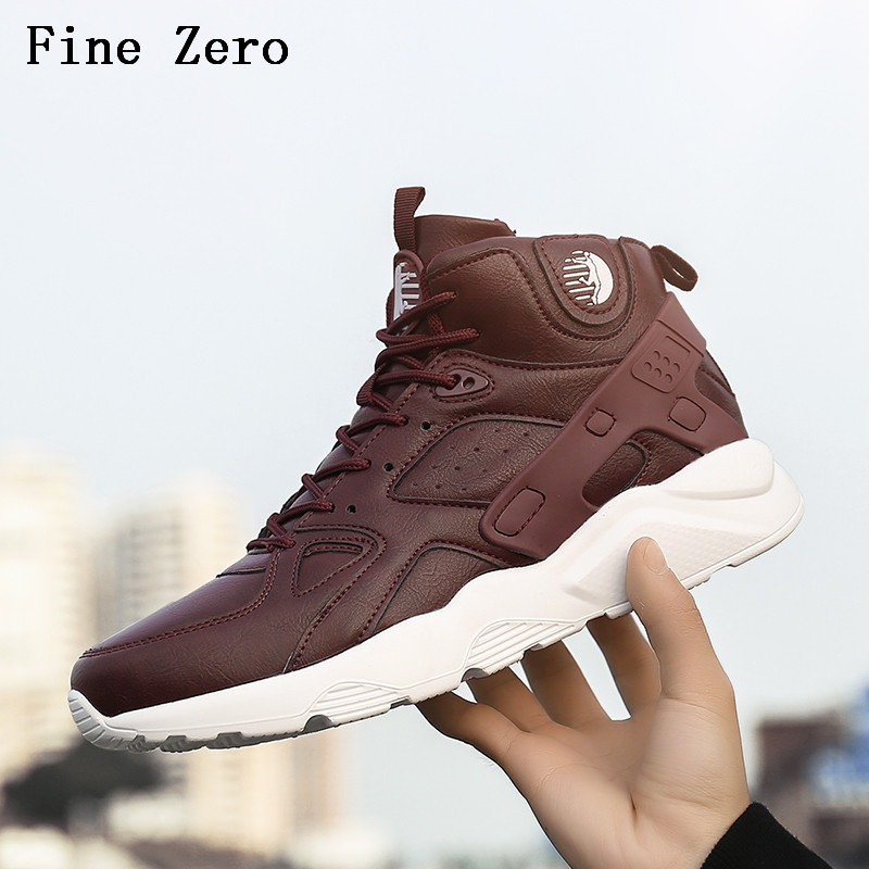 Fine Zero Men's Basketball Shoes Air Damping Men Sports Sneakers High Top Breathable Pu Leather Trainers Shoes Men Outdoor Shoes