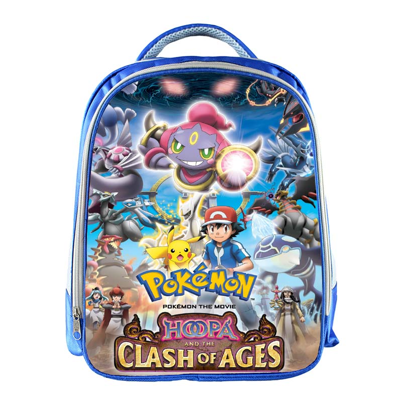 834614f7b3 Anime Pokemon GO Kindergarten Backpack Pikachu Children School Bags ...