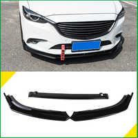 Für Mazda 6 M6 Atenza 2014-2017 Frontschürze Lip Unteren Kühlergrill Spoiler Protector Körper Kit Diffusor Abdeckung Aufkleber trim Auto Styling