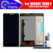 5.0 Inch Vernee Thor E Lcd scherm + Touch Screen Digitizer + Frame Montage 100% Originele Lcd + Touch Digitizer voor Thor E