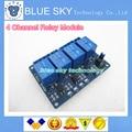 Hot 1 PÇS/LOTE 5 V 4-Channel Módulo de Relé Protetor para Arduino ARM PIC AVR DSP Eletrônico 5 V 4 Canal Módulo de relé