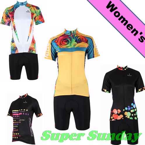 Women's Cycling Jersey Summer Cycling Wear Set Short Sleeve Female Bike Jerseys Sports Bicycle Racing Clothes Free Shipping 176 top quality hot cycling jerseys red lotus summer cycling jersey 2017s anti uv female adequate quality sleeve cycling clothin
