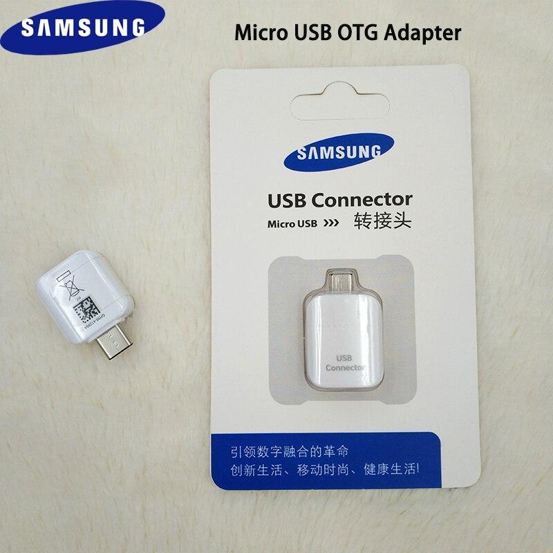 Original Samsung Micro Usb A Usb Otg Adaptador Para Samsung Galaxy S7 Borde J6 J7 C10 A7 A8 A9 Pro Apoyo De Impulsión De La Pluma/ratón/teclado Rico Y MagníFico