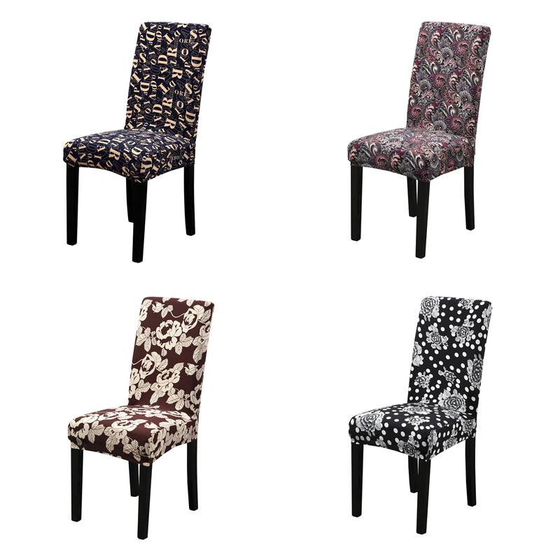 2PC LOT Modern Spandex Elastic Dining Chair Cover Anti dirty Kitchen Seat Case Protector Stretch Chair Seat Covers for Banquet in Chair Cover from Home Garden