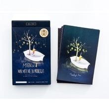 30 листов/набор лунный свет барон светящаяся открытка поздравительная открытка с сообщением Подарочная открытка на день рождения