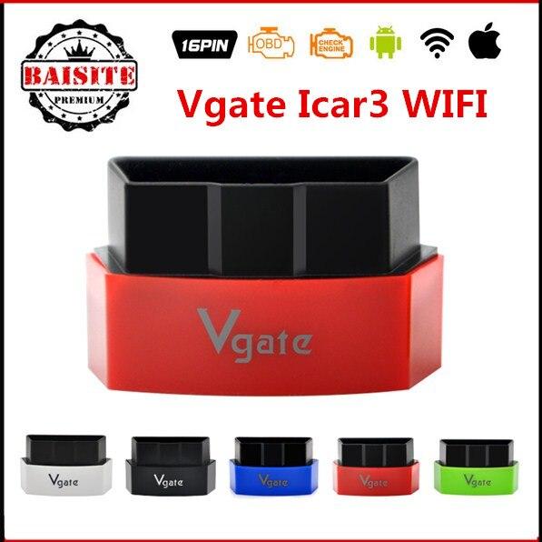 Prix pour D'origine Vgate iCar3 Wifi Elm327 Wifi Code Lecteur Support WI-FI tous les Protocoles OBDII Voitures iCar 3 CODE Scan pour Android/IOS/PC