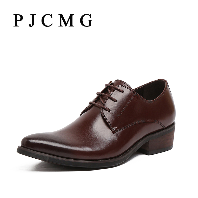 PJCMG Italian Luxury Designer Formal Mens Dress Genuine Leather Black Basic Flats For Men Wedding Office Shoes fashion top brand italian designer mens wedding shoes men polish patent leather luxury dress shoes man flats for business 2016