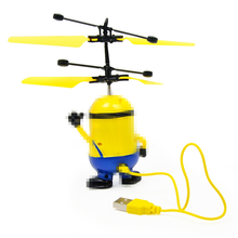 Educational Toys Drone RC Helicopter Aircraft Mini Fly Flashing Hand Control Minion Quadcopter Dron LED
