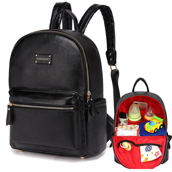 COLORLAND PU Leather Baby Bag Organizer Tote Diaper Bags Mom Backpack Mother Maternity Bags Diaper Backpack Large Nappy Bag sunveno pu leather baby bag organizer tote diaper bags mom backpack mother maternity bags diaper backpack large nappy bag