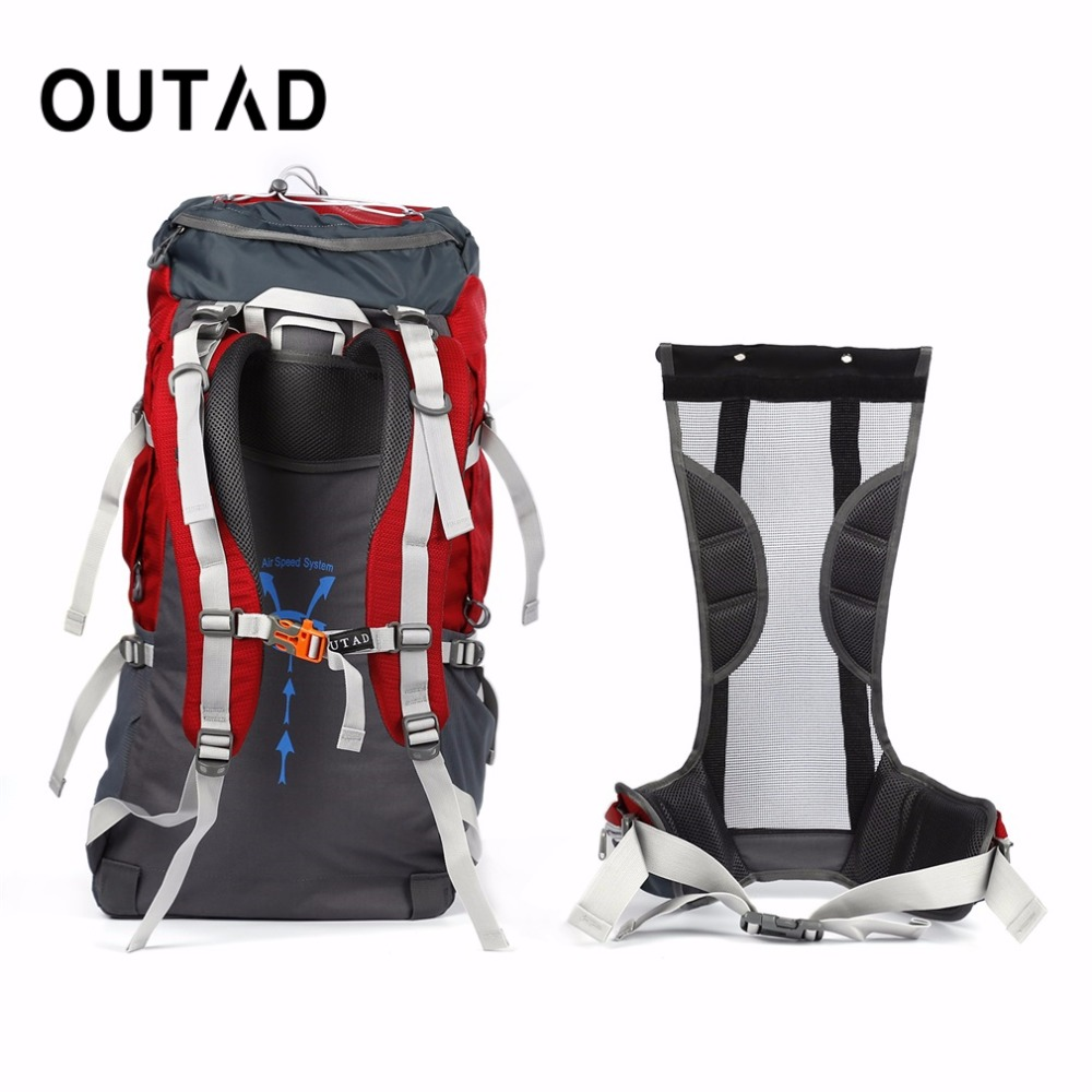 OUTAD 60+5L Outdoor Water Resistant Nylon Sport Backpack Hiking Bag Camping Travel Pack Mountaineer Climbing Sightseeing Hike - 4