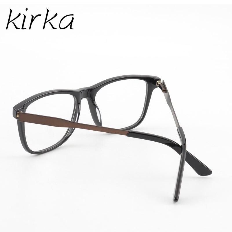 Kirka Schwarz und Braun Mode Rahmen Gläser Männer Platz Klassische ...