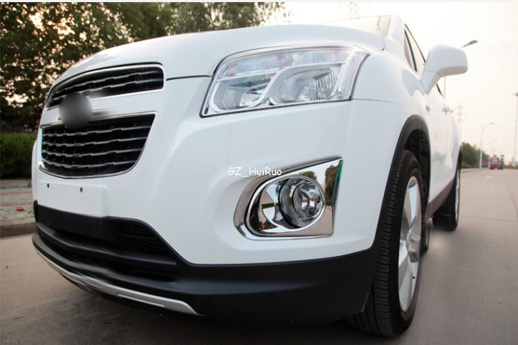 For Chevrolet Chevy TRAX 2014 2015 Chrome Front Fog lights Lamp Cover Trim 2pcsFor Chevrolet Chevy TRAX 2014 2015 Chrome Front Fog lights Lamp Cover Trim 2pcs