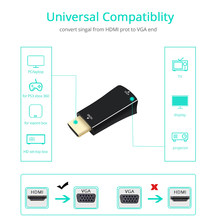 TISHRIC Male to Female Full 1080P HDMI to VGA Converter Adapter Audio Cable for XBOX 360 PS3 HD Digital to Analog HDMI VGA Cable(China)