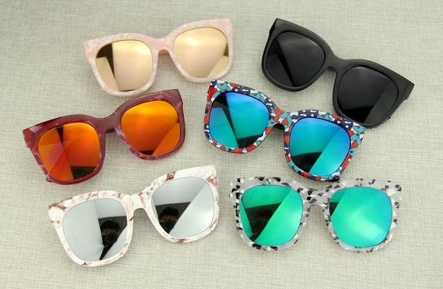 e7c65287c418c Agstum Oversize Hombre Mujer gafas UV 400 protección marco Multi claro azul  amarillo lente verde polarizado
