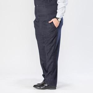 Image 5 - Plus Size 5XL 6XL 7XL 8XL 9XL Mens Suit Pants Classic Style Business Casual Loose Straight Plaid Trousers Male Brand 7Color