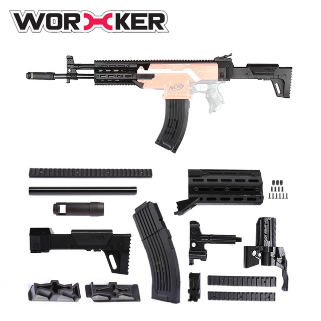 Buy Now Worker Modification Shoulder Stock Kits Suitable For NERF Toy Gun  Stock black