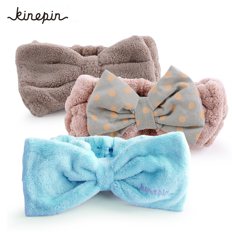 1Pc Women Hair Accessories Cute Headband Polka Dot Bow Head Bands Hairbands Women Female Girls Makeup Elastic Hair Band Turban 1pc 2016 new fashion elgant women hair band rope elastic rose flower ponytail holder scrunchie party accessories hot page 4
