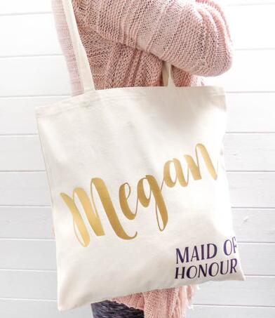 Glitter Set Of 5 Bridesmaid Tote Bags Personalized Names Hen Party Wedding Gift Keepsake Bachelorette Bridal Shower Favors In Diy Decorations