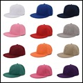 Snapback Cap Colors Unisex Plain Baseball Cap Hip-Hop Adjustable Eaked Hat Visor 013