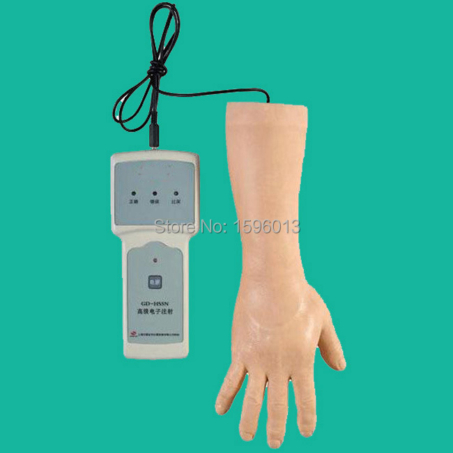 Advanced Electronic IV Hand training model, electrical IV training arm economic injectable training arm model with infusion stand iv arm injection teaching model