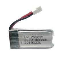 3.7V 400 mah 30c bateria lipo dla H107 H31 KY101 E33C E33 U816A V252 H6C 25C zdalnie sterowany quadcopter 752035 30C bateria lipo 3.7 v 400 mah