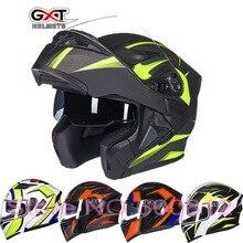 2017 Новый GXT шлемы мужской женский двойной объектив открытым лицом мотоциклетный шлем полный обложка мотоцикл шлемы с Анти-туман объектив сезона